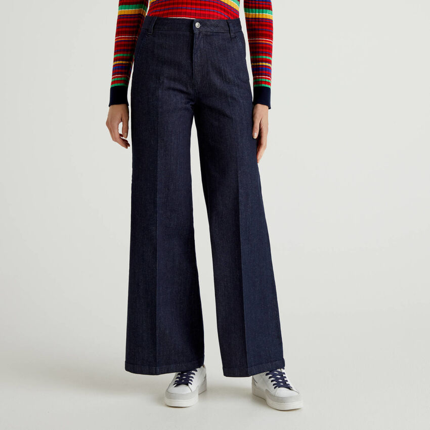 Flared jeans in stretch cotton