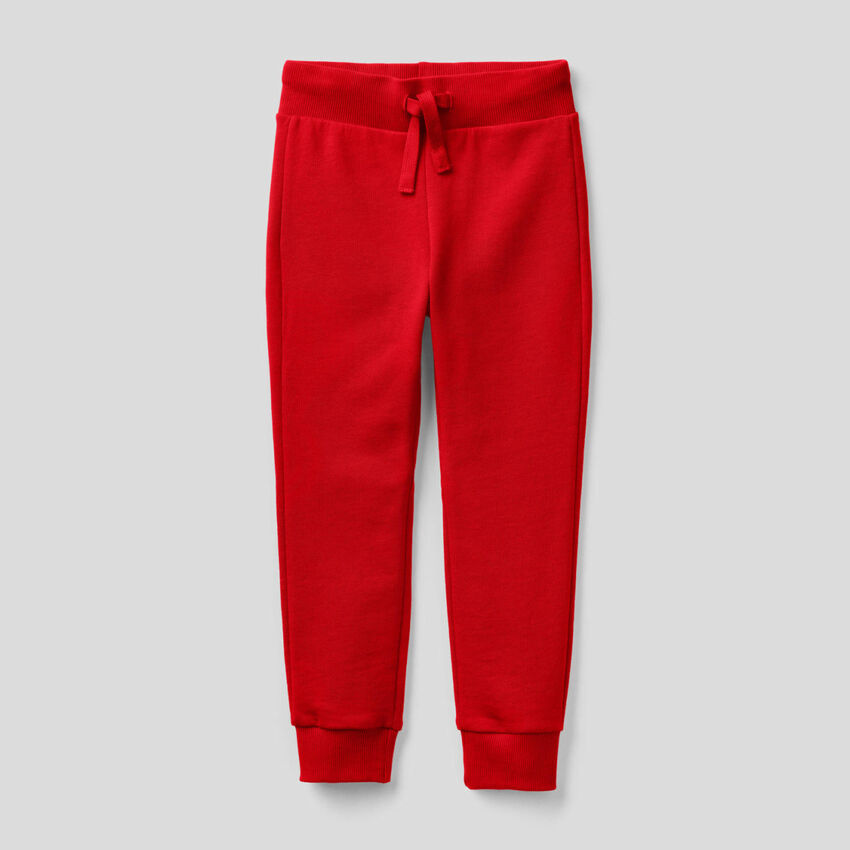 Red sporty sweatpants