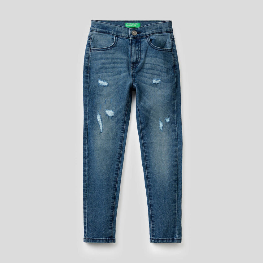 Worn look skinny jeans