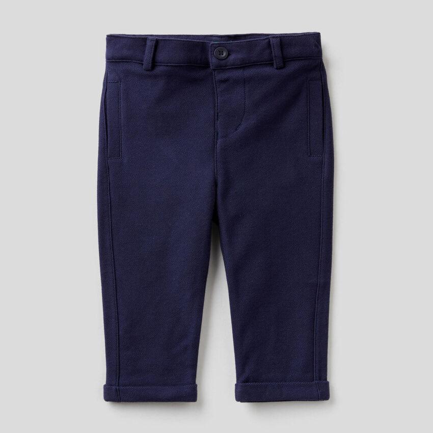 Elegant trousers in 100% sweat cotton