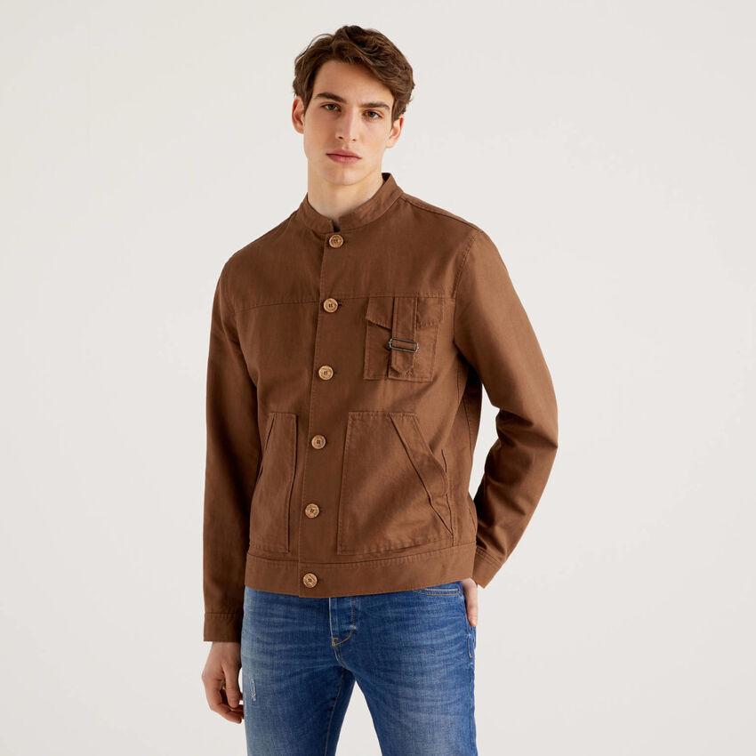 Jacket in linen blend