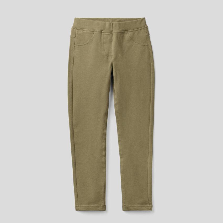 Stretch sweat fabric jeggings