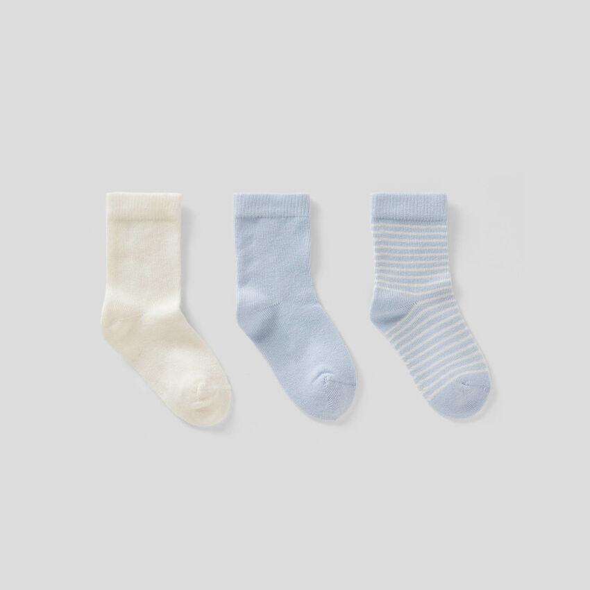 Sock set in light blue tones