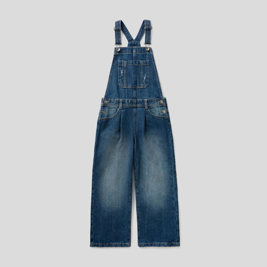 Denim overalls in 100% cotton