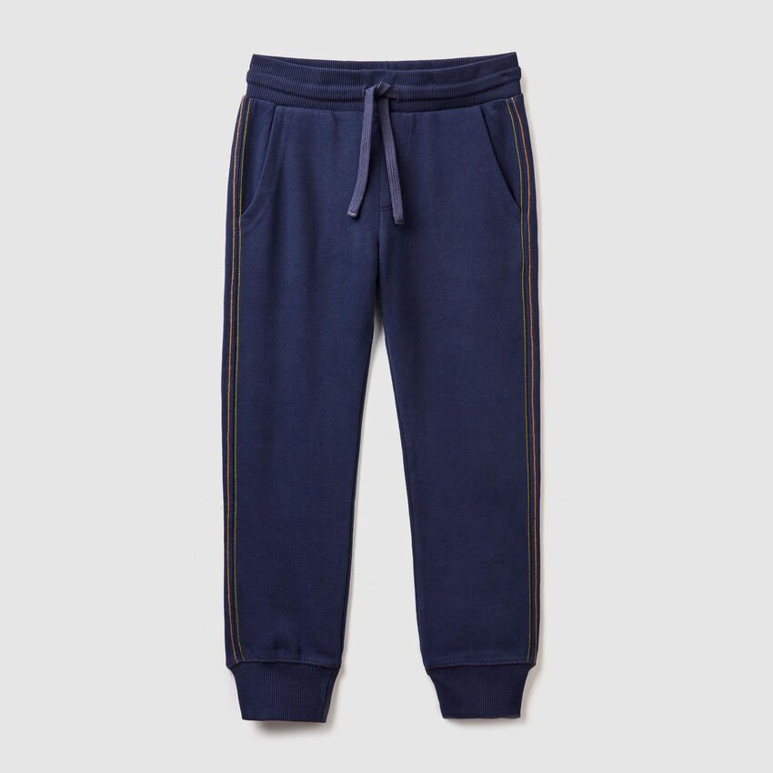 Trousers with printed pocket