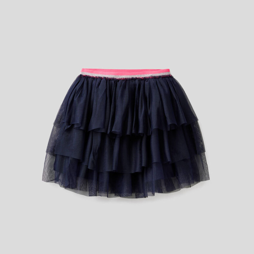 Skirt with frills in tulle