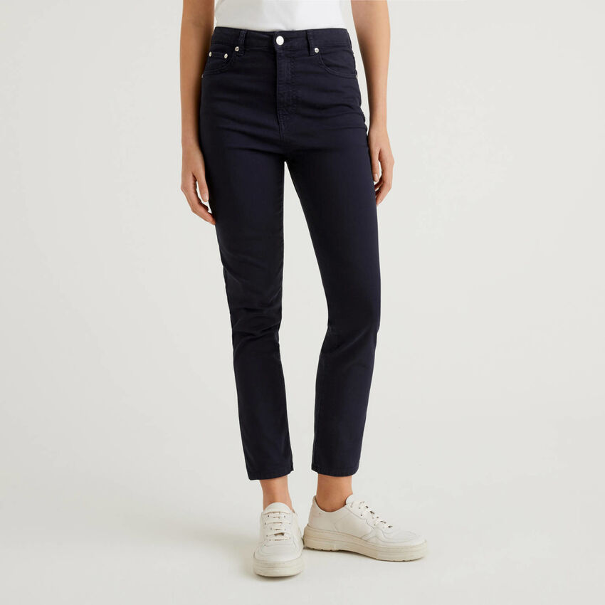 Stretch cotton trousers