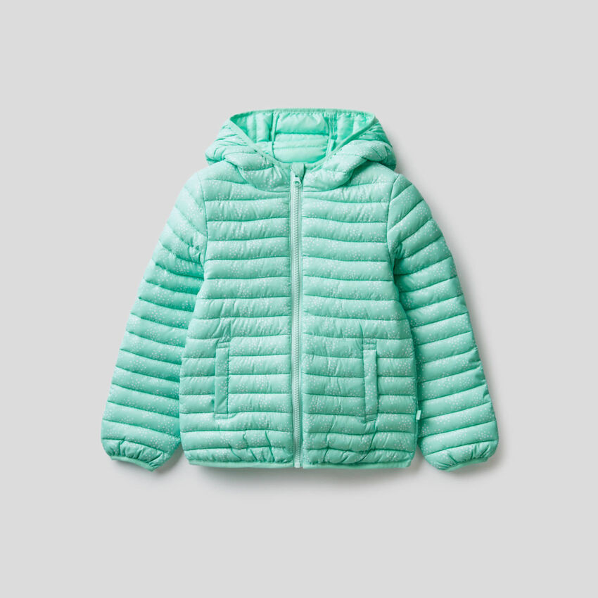 Jacket with zipper and hood