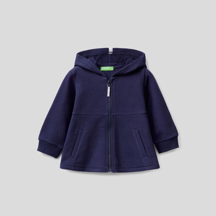 Flared sweatshirt with lurex details