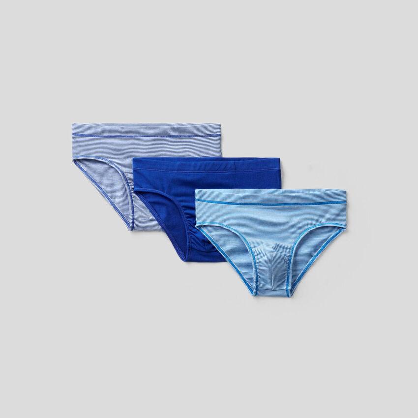 Three underwear in stretch cotton