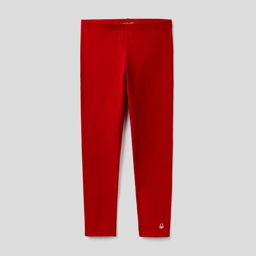 Stretch cotton leggings