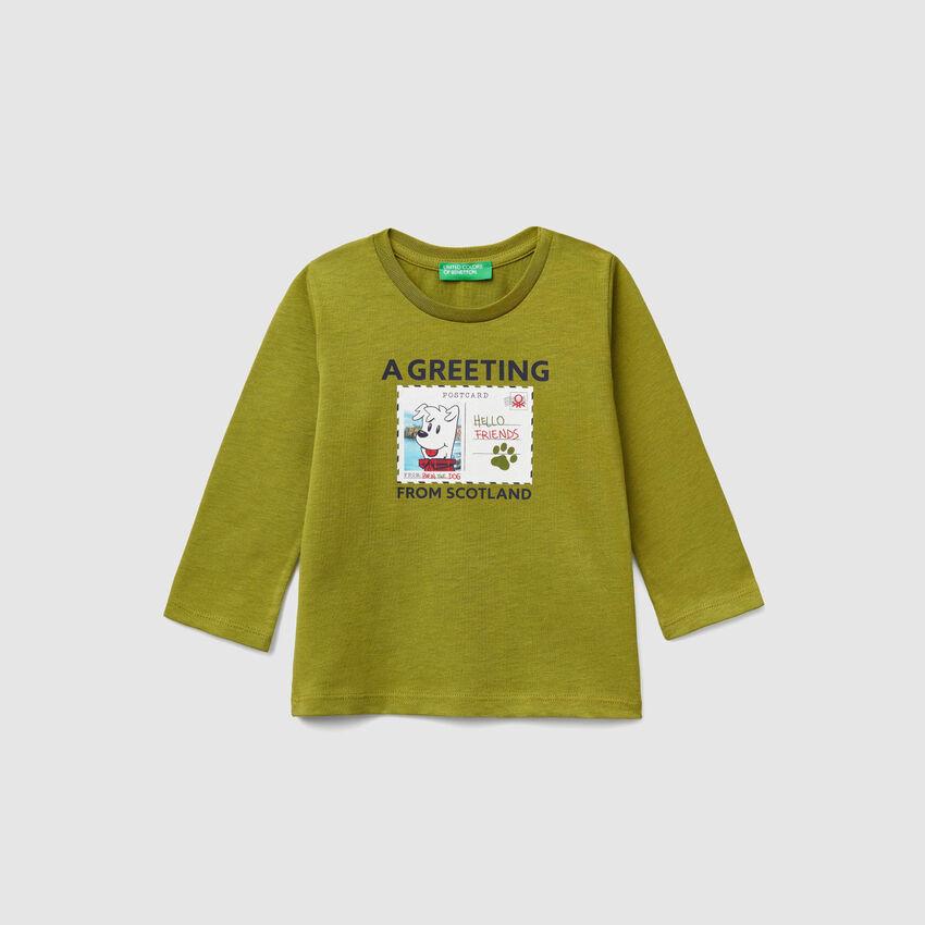 T-shirt with postcard print