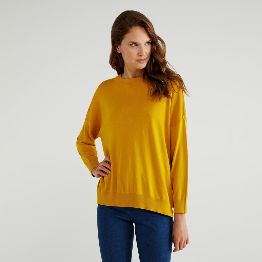 Sweater in cotton and Modal®