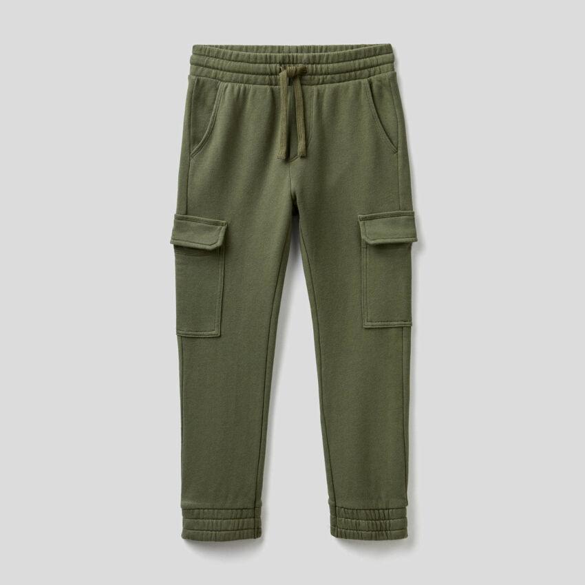 Cargo sweatpants in cotton