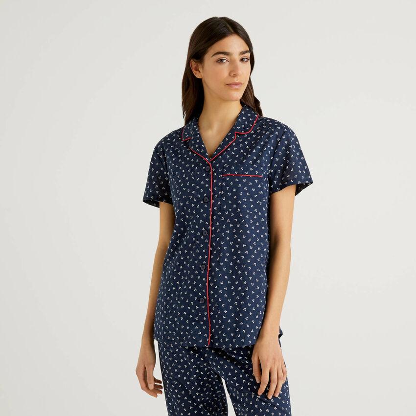 Pure cotton pyjama blouse