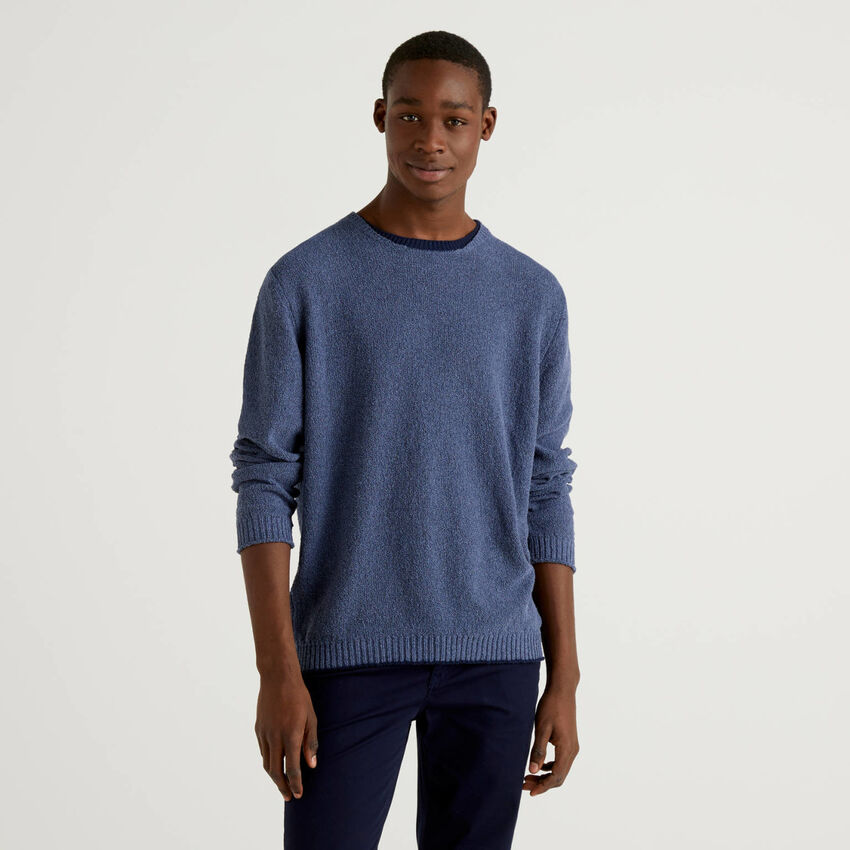 Sweater with clashing detail