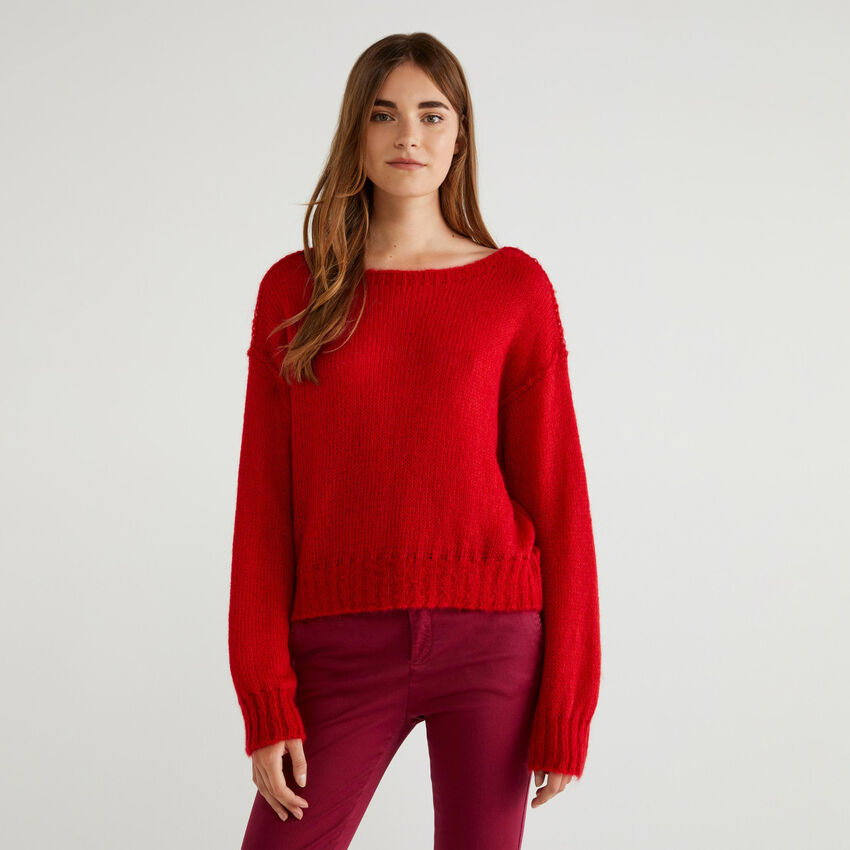 Sweater in mohair blend