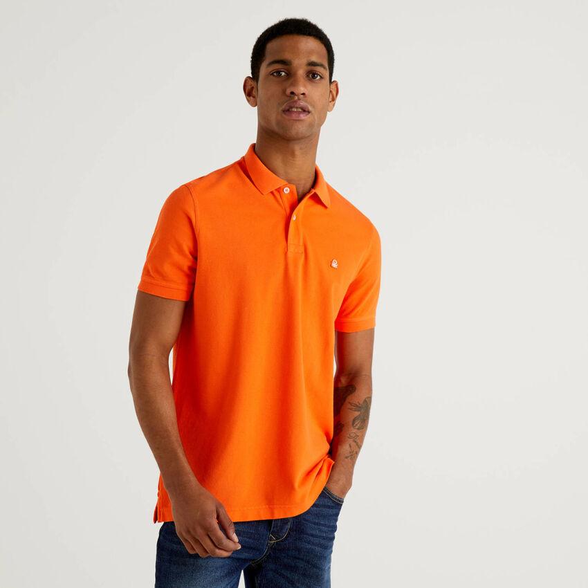 Regular fit orange polo