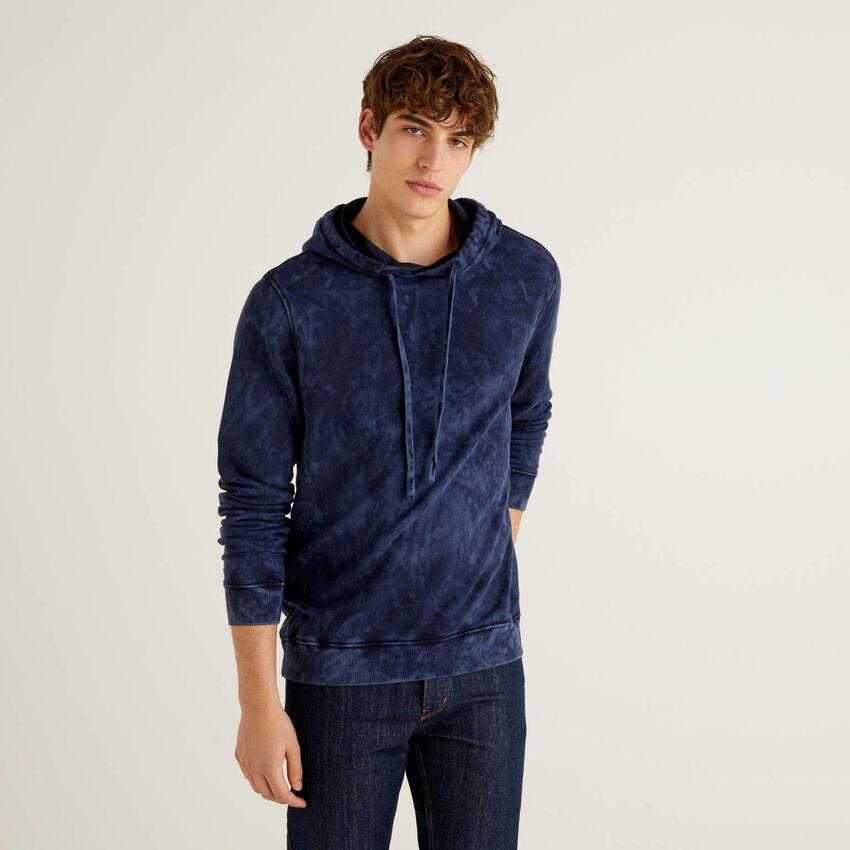 Tie-dye sweatshirt in 100% cotton