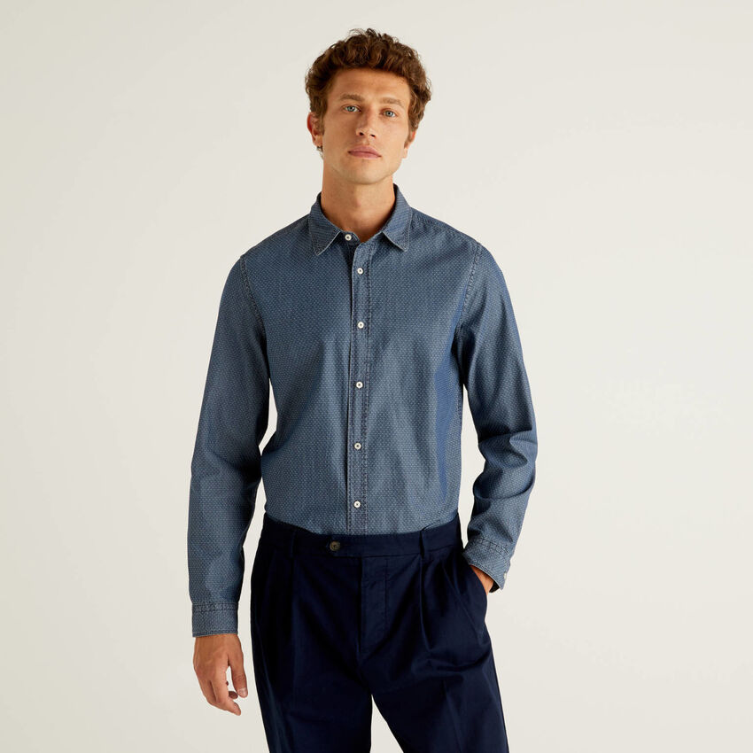 Slim fit shirt in 100% cotton