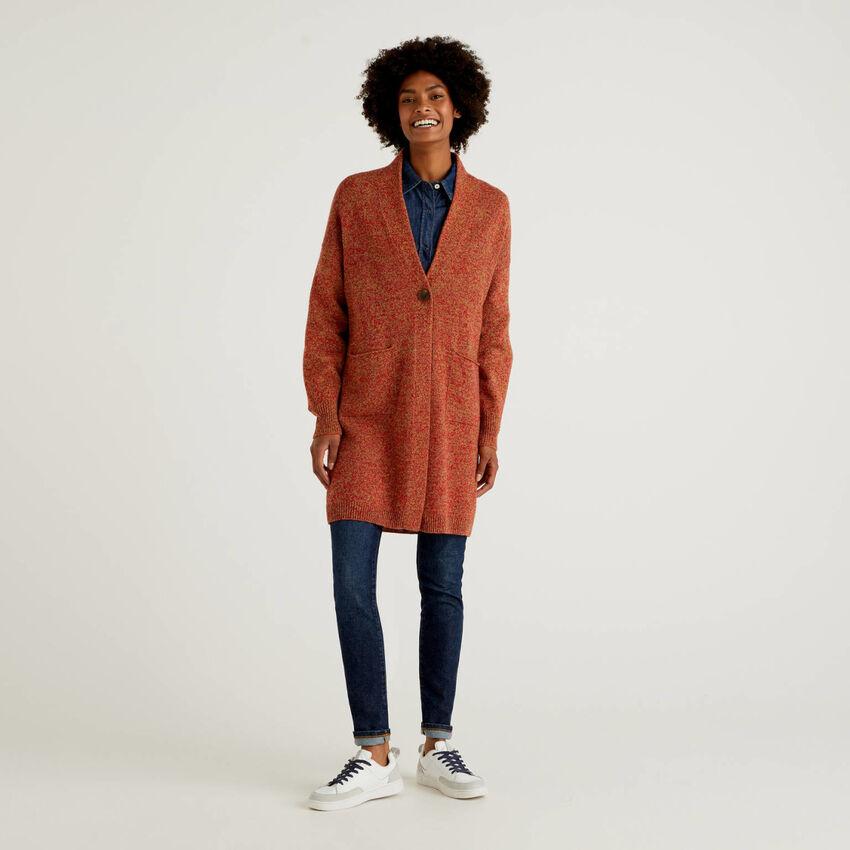 Coat in pure Shetland wool