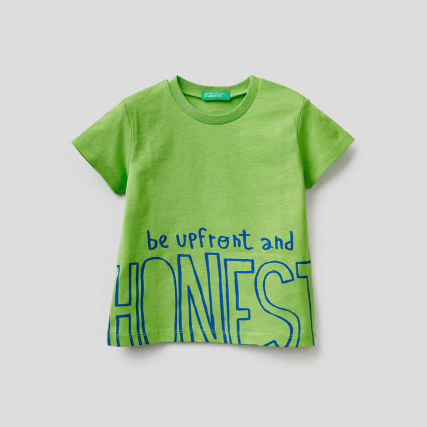 Cotton t-shirt with slogan