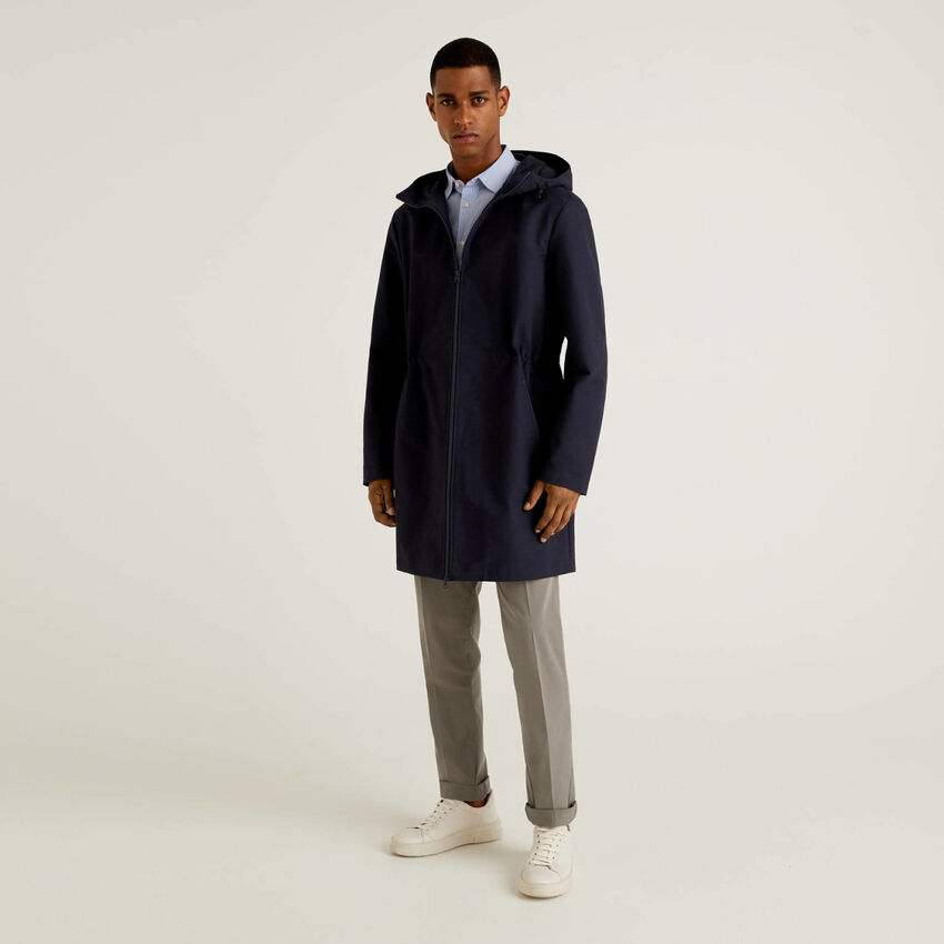 Unlined parka in 100% cotton