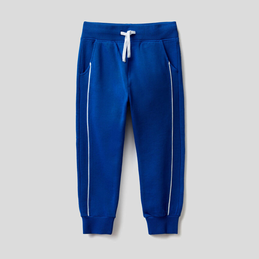 Trousers in 100% sweat cotton