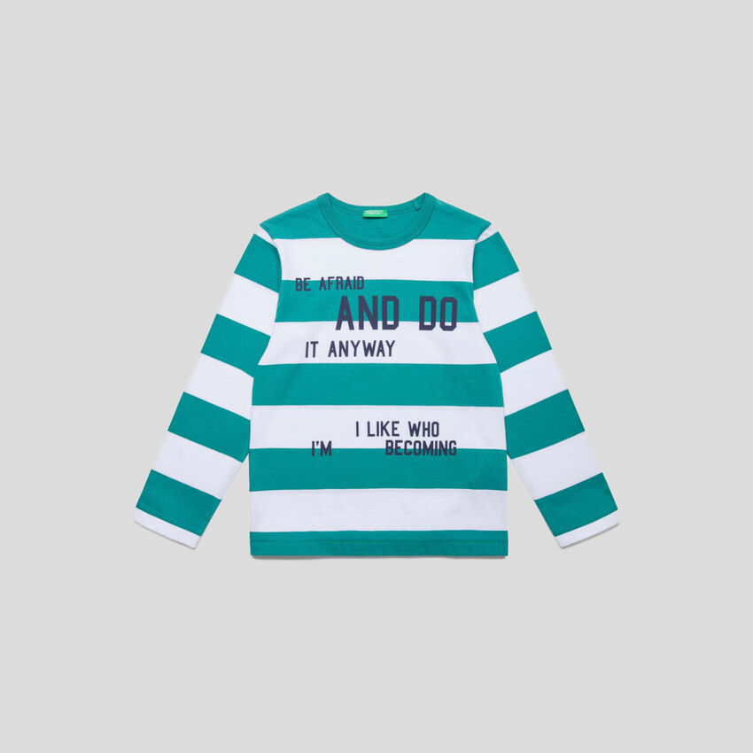 Striped t-shirt with writing