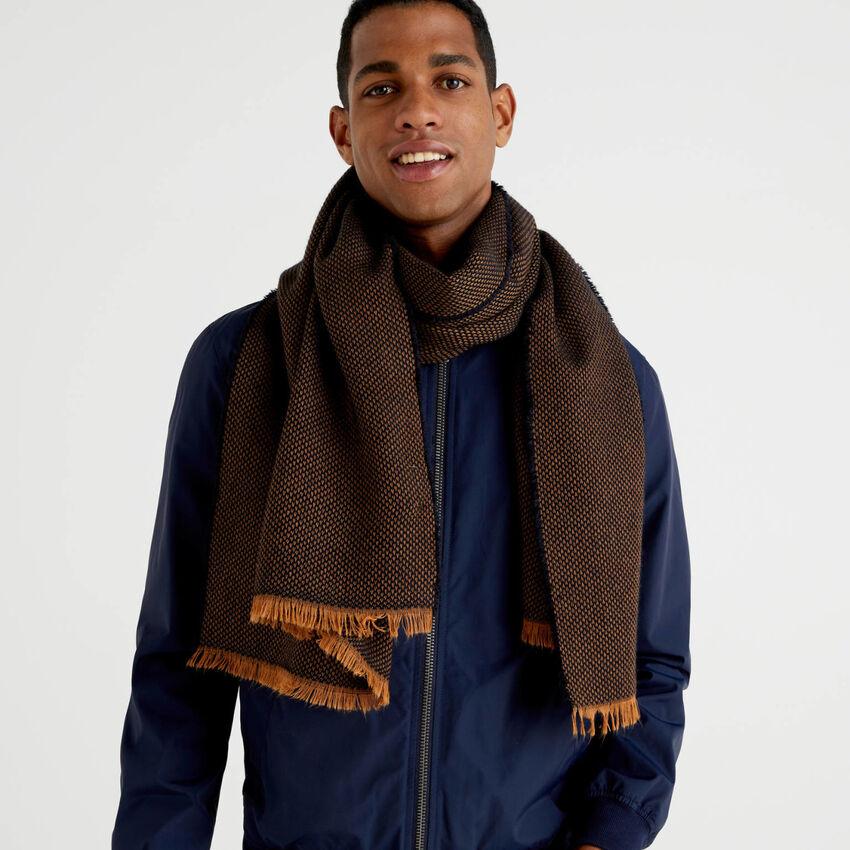 Wool and alpaca blend scarf