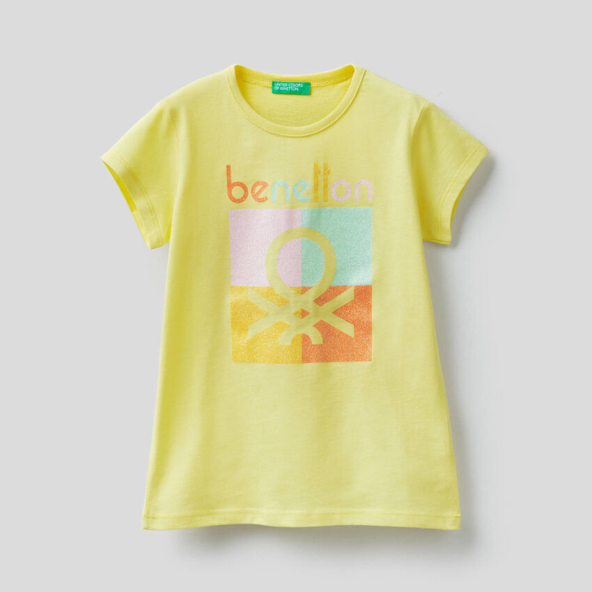 Pure cotton t-shirt with print