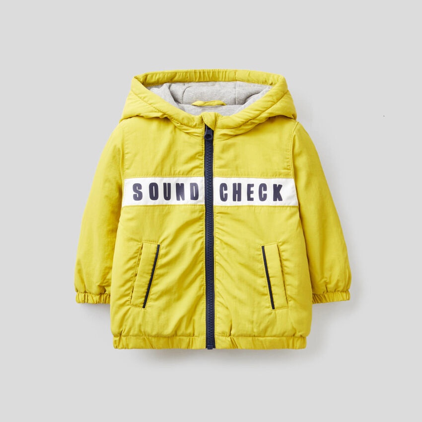 Lined jacket with hood