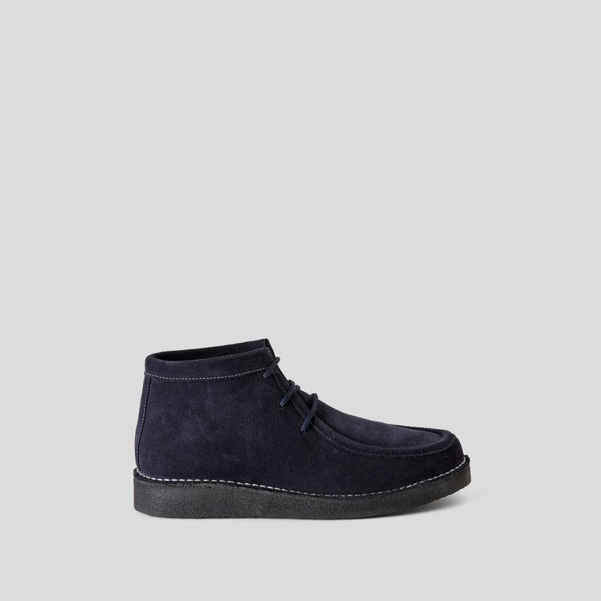 Suede lace-up shoes