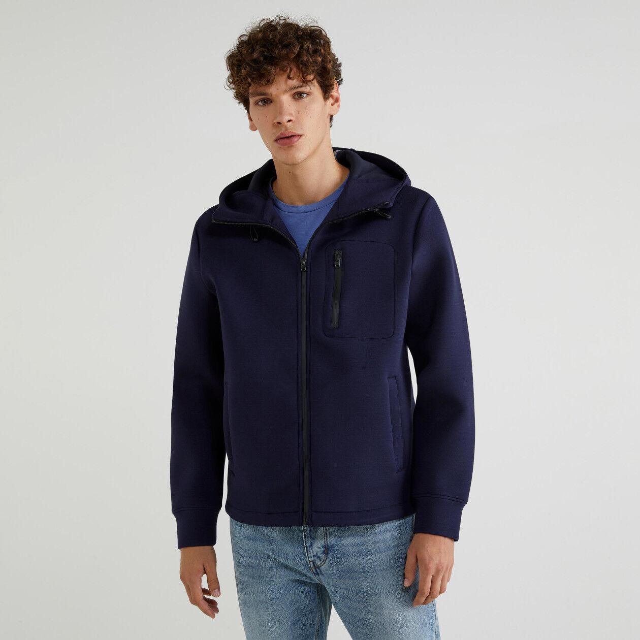 Neoprene jacket with hood