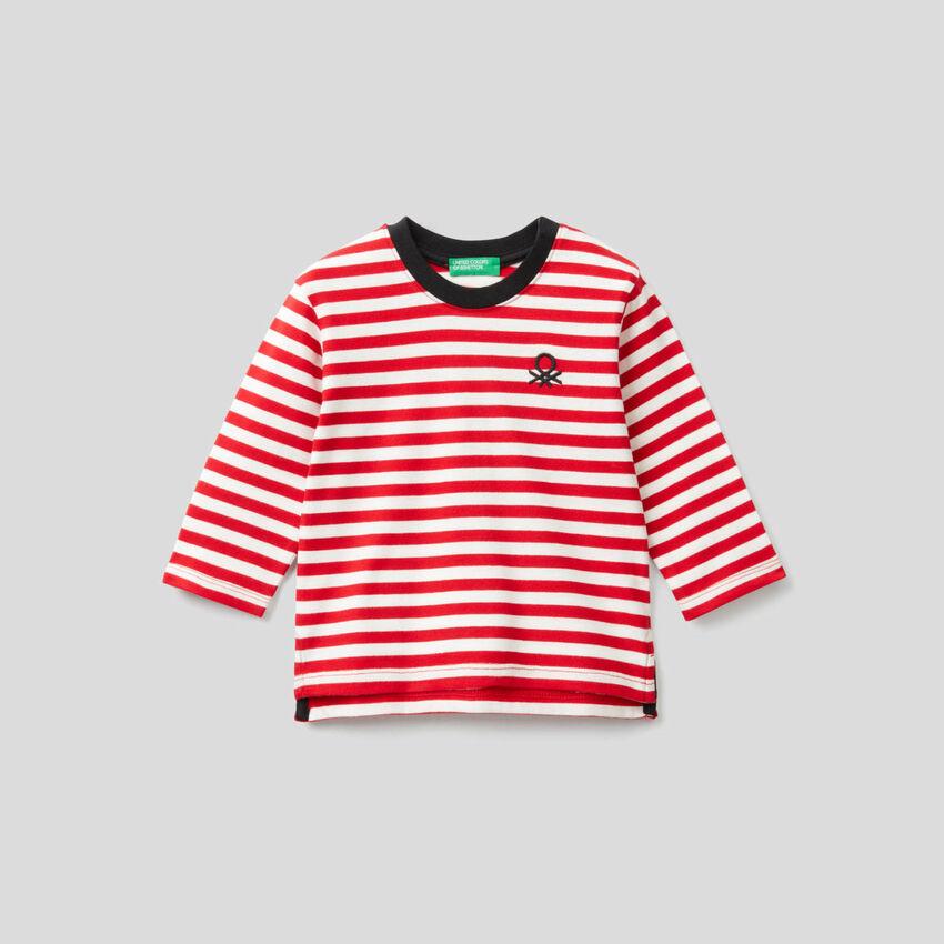 Striped t-shirt in organic cotton