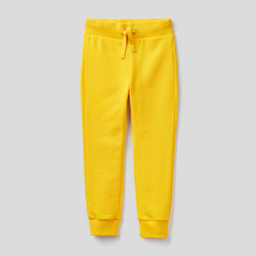 Yellow sporty sweatpants