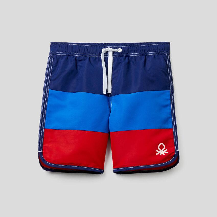 Color block swim trunks