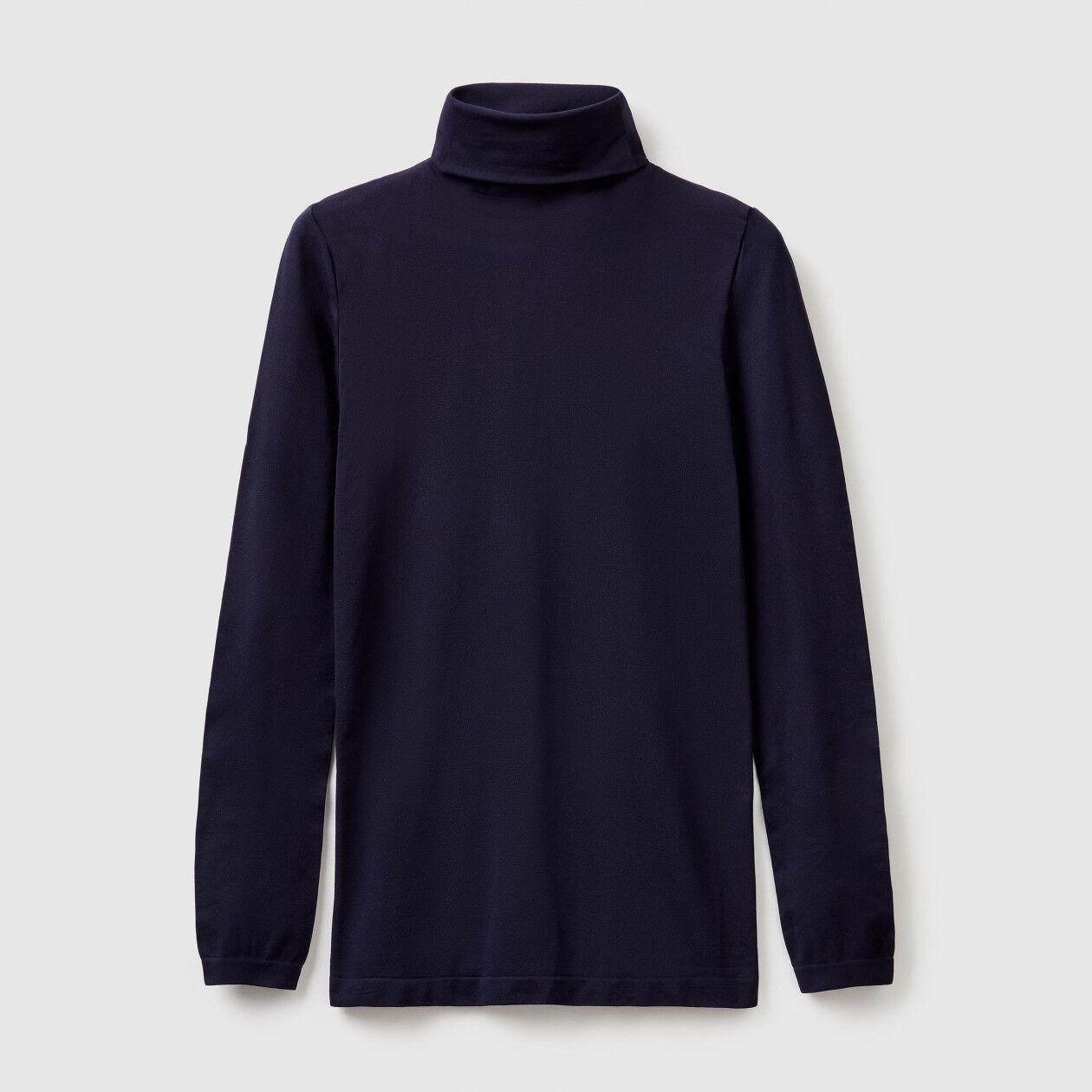 Stretch turtleneck sweater